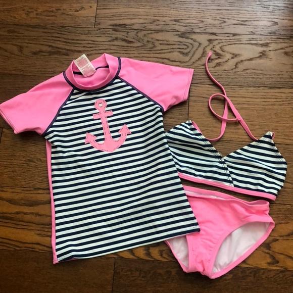 51be771145361 Circo Swim | Girls Xs 3 Pc Set Navypink | Poshmark